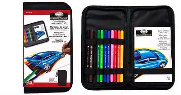 ARTISTS COLOR MARKER KEEP N'' CARRY 12 PIECE ART SET BY ROYAL & LANGNICKEL.